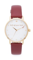 Kate Spade Metro Kick Up Your Heels Watch Gold