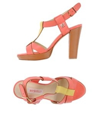 Mysuelly Sandals Coral