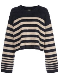Khaite Dotty Striped Relaxed Fit Jumper 60