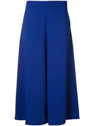 P.A.R.O.S.H. Wide Leg Palazzo Trousers Women Polyester 44 Blue