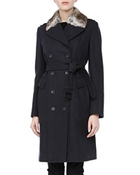 Andrew Marc New York Andrew Marc Faith Double Breasted Belted Trench Coat 2