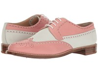 Gravati Calf Leather Wing Tip Pink White Women's Lace Up Wing Tip Shoes