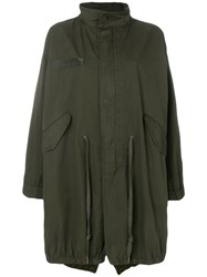 Zadig And Voltaire Kiko Brode Butterfly Parka Coat Green