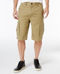 Lrg Men's Rip Stop Cargo Shorts British Khaki