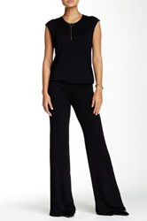 Riller And Fount Cap Sleeve Wide Legged Jumpsuit Black