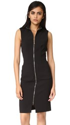 L'agence Chiara Front Zip Dress Black
