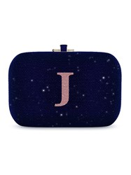 Judith Leiber Couture Slide Lock Customizable Monogram Bag Blue
