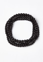 Missguided Black Layered Peal Necklace