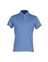 Henry Cotton's Topwear Polo Shirts Men Pastel Blue