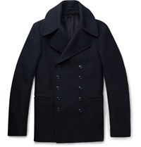 Alexander Mcqueen Slim Fit Cotton Peacoat Midnight Blue