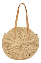 Billabong Round About Straw Tote Beige Natural