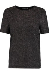Opening Ceremony Cleo Glittered Stretch Jersey T Shirt Black