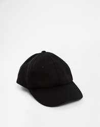 Asos Harris Tweed Baseball Cap Black