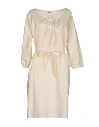 Moschino Cheap And Chic Knee Length Dresses Ivory
