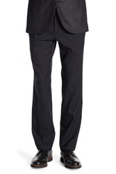 Kenneth Cole Reaction Modern Stretch Fit Plain Front Trousers 29 34 Inseam Black
