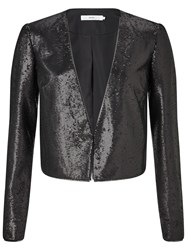 John Lewis Sequin Jacket Black