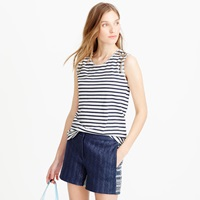J.Crew Mixed Stone Muscle Tank Top In Stripe