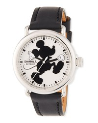 Shinola Silhouette Mickey Runwell 41Mm Black