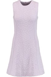 Issa Claudia Stretch Jacquard Knit Mini Dress Purple