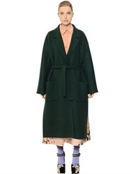 Rochas Belted Double Wool Coat