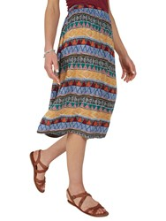 Fat Face Collier Tribal Geo Midi Skirt Multi
