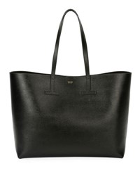 Tom Ford Saffiano Leather T Tote Bag Black