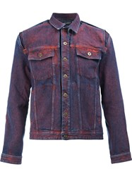 Y Project Chest Pockets Denim Jacket Red