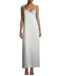 Elizabeth And James Pearl Sleeveless Satin Slip Gown Light Gray