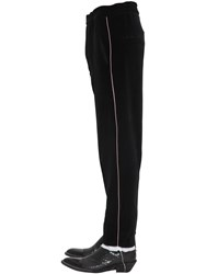 Haider Ackermann Cotton Chenille Pants W Piping Black
