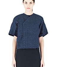 Rick Owens Structured Cocoon Jacket Navy