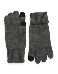 Black Brown Cashmere Smart Gloves Charcoal