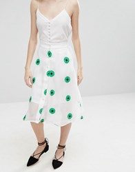 Sister Jane Primavera Skirt In Daisy Print White