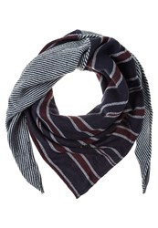 S.Oliver Scarf Blue Placed Print