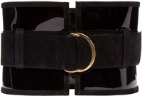 Balmain Black Suede And Vinyl Belt