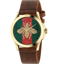 Gucci Ya126451 G Timeless Gold Plated Stainless Steel Watch Mixed