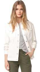 Madewell The Oversized Jean Jacket Tile White