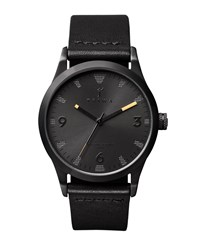 Triwa Sort Of Black Leather Watch Black