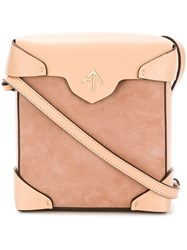 Manu Atelier Mini Pristine Cross Body Bag Nude And Neutrals