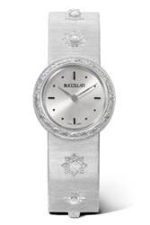 Buccellati Macri 24Mm 18 Karat White Gold And Diamond Watch