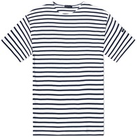 Armor Lux 1524 Loctudy Tee White And Navy