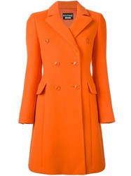 Boutique Moschino Long Double Breasted Coat Yellow Orange