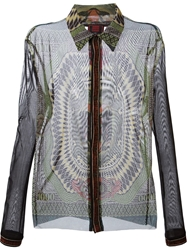 Jean Paul Gaultier Vintage 'Le Grand Voyage' Sheer Shirt Multicolour