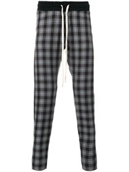 Represent Plaid Tapered Trousers Grey