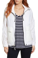 Cole Haan Lightweight Hooded Anorak White