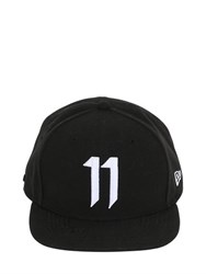 11 By Boris Bidjan Saberi Logo Embroidered Canvas Baseball Hat