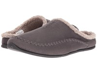 Deer Stags Nordic Charcoal Slippers Gray