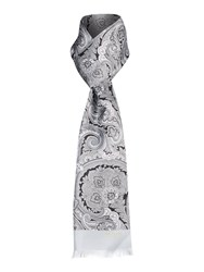 Ted Baker Paisley Print Silk Scarf Grey