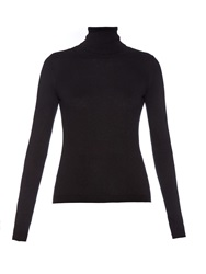 Red Valentino Roll Neck Silk And Cashmere Blend Sweater