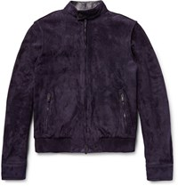 Tod's Iconic Suede Bober Jacket Dark Purple