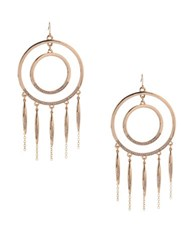 Bcbgeneration Glass Double Circle Drop Earrings Silver